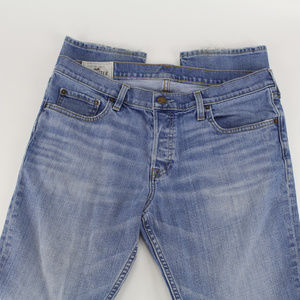 Hollister Jeans - Hollister Mens Jeans 36x32 Denim Straight Leg Blue